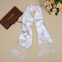 Вышивку на шарф нанести
