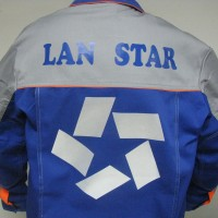 Логотип на куртке, спина