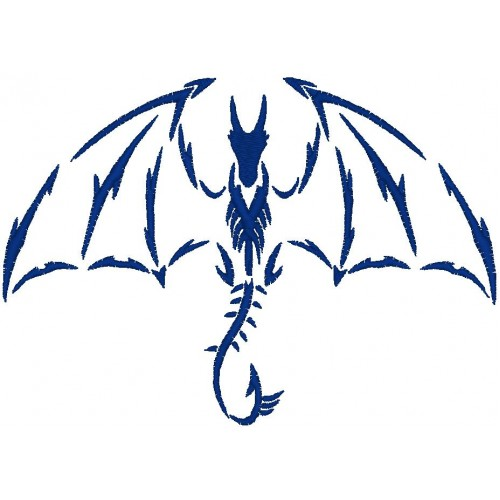 Вышивка Дракон5