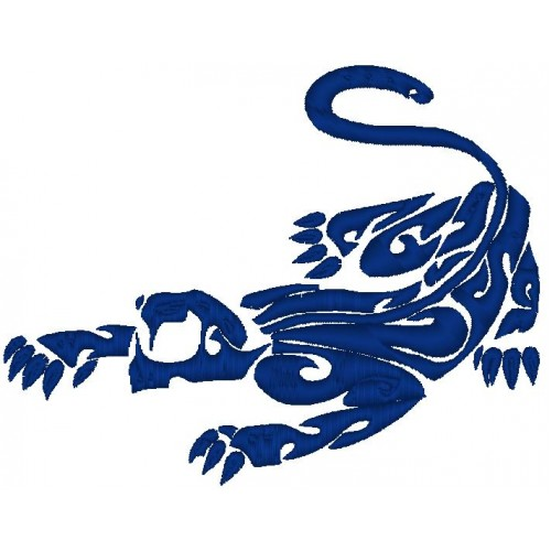 Вышивка Пантера