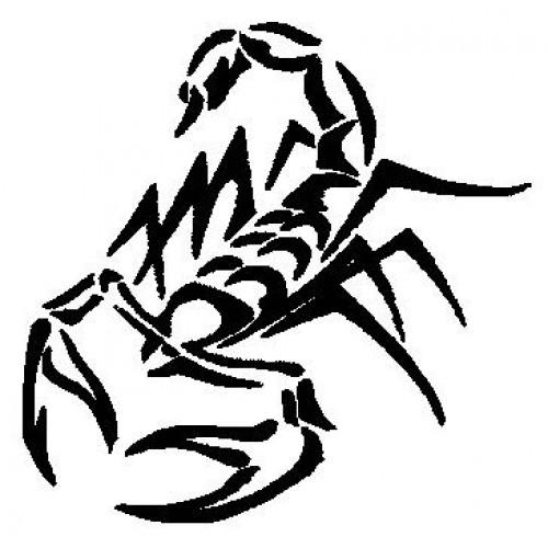 Вышивка Скорпион